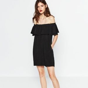 Zara Ruffle Off the Shoulder Dress - XS